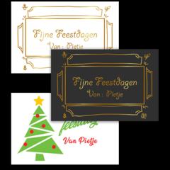 Kerstkaart met gratis Template