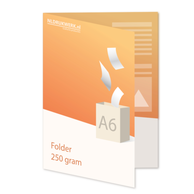 Folder A6 - 250 grams - 4 zijdig