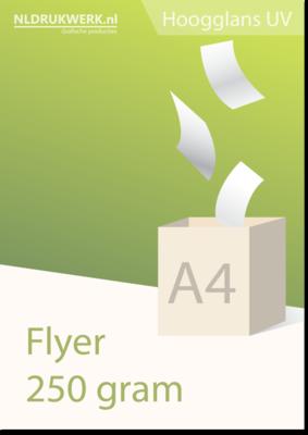 Flyer A4 - 250 grams Hoogglans UV