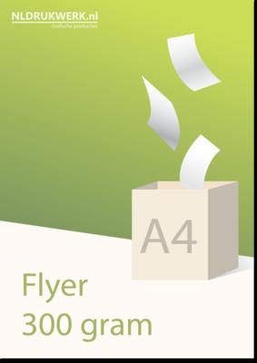 Flyer A4 - 300 grams Hoogglans UV