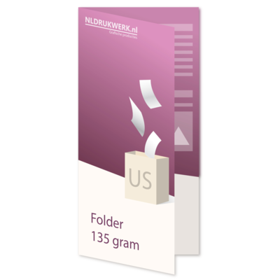 Folder US - 135 grams - 4 zijdig
