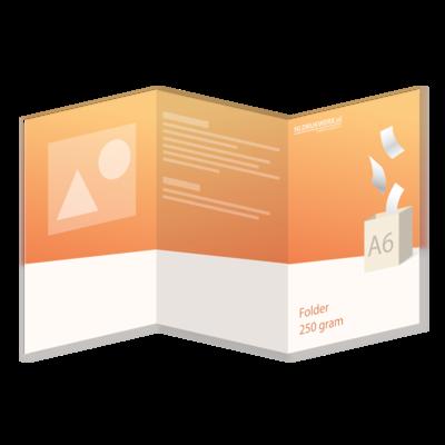 Folder A6 - 250 grams - 6 zijdig