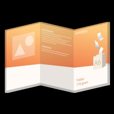 Folder A6 - 170 grams - 6 zijdig