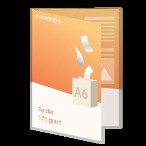 Folder A6 - 170 grams - 4 zijdig
