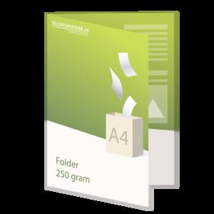 Folder A4 - 250 grams - 4 zijdig