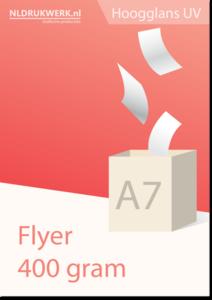 Flyer A7 - 400 grams Hoogglans UV