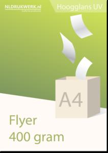 Flyer A4 - 400 grams Hoogglans UV