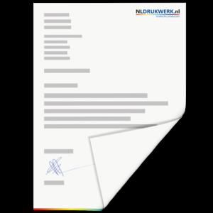 Briefpapier A4 - 120 grams enkelzijdig bedrukt