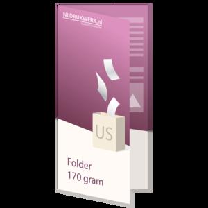 Folder US - 170 grams - 4 zijdig