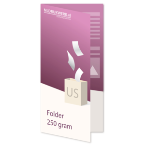 Folder US - 250 grams - 4 zijdig