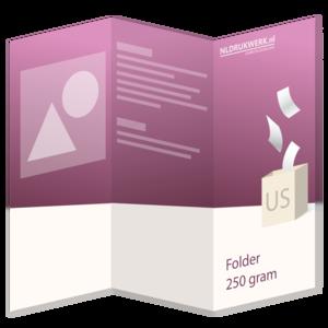 Folder US - 250 grams - 6 zijdig