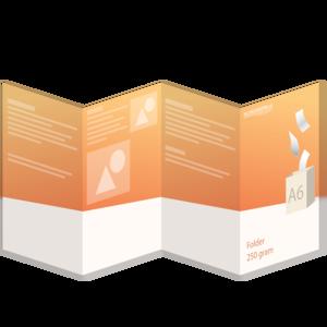Folder A6 - 250 grams - 8 zijdig