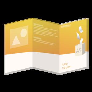 Folder A5 - 135 grams - 6 zijdig