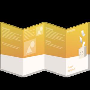 Folder A5 - 250 grams - 8 zijdig