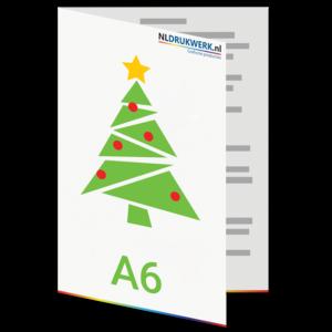 Kerstkaart A6 hoogglans karton